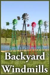 backyard ornamental windmills and windmills for pond aeration