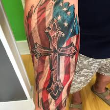 Mexican Flag Tattoos 50 Independent Patriotic American Flag Tattoo Designs I Love