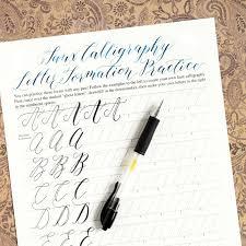 calligraphy worksheet set kaitlin style the postman u0027s knock