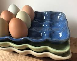 ceramic egg tray ceramic egg tray etsy