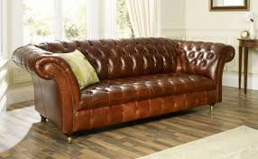 Furniture Mesmerizing Luxurious Brown Leather Chesterfield Sofa - Chesterfield sofa design ideas