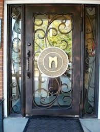 image search results for heavy glass front door brown wrought