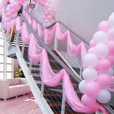 special offer 0 75 20m sheer mirror organza roll pink wedding