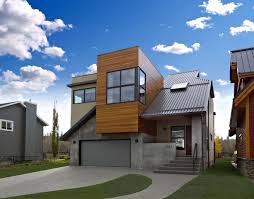 natural architectural flat roof garage with balcony that has grey natural architectural flat roof garage with balcony that has grey door make it seems great design