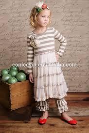 wholesale little cotton remake clothing set girls fall