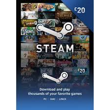 gift cards for steam steam gift card gbp 20 for uk accounts only steam digital