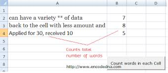 Count Number Of Words In Excel Total Number Of Words In A Cell Or Range In Excel Vba