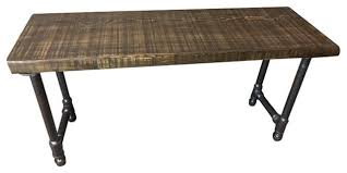 Urban Benches Rustic Reclaimed Urban Wood Bench Industrial Pipe Legs