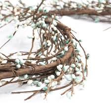 white and turquoise pip berry garland garlands floral supplies