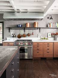 modern rustic wood kitchen cabinets industrial meets rustic in this kitchen industrial kitchen