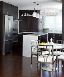 kitchen furniture unusual black glass dining table and chairs