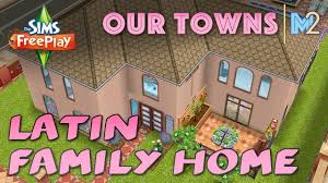 sims freeplay latin inspired family home original house design