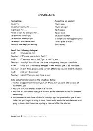 apologizing worksheet free esl printable worksheets made by teachers