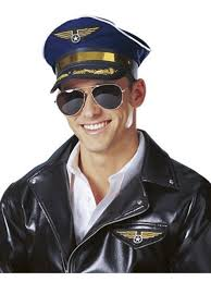 Air Force Halloween Costumes Airline Pilot Hat Unisex Hats Occupational Halloween