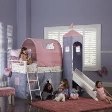 Princess Castle Bunk Bed Princess Castle Twin Size Tent Bunk Bed With Slide
