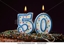 birthday cake candles on color background stock photo 538265476