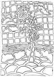 mosaic coloring pages printable coloring home