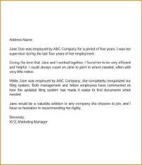 sample recommendation letter from job