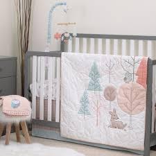 Woodland Nursery Bedding Set by Carter U0027s Woodland Meadow Peach And Aqua 3 Piece Crib Bedding Set