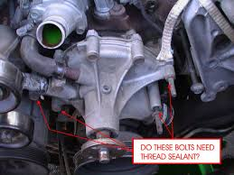 Ford F150 Truck 1995 - are water pump bolts wet on 1995 f150 ford truck enthusiasts forums