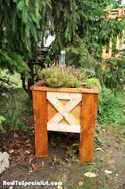 how to build an outdoor planter box howtospecialist how to