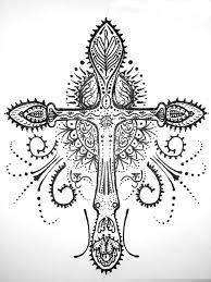 10 best cross henna tattoo images on pinterest henna tattoos