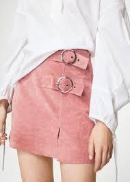 buckles leather skirt woman mango united kingdom