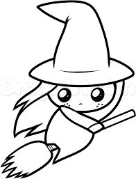 how to draw a cute witch step by step witches monsters free
