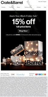 crate barrel black friday 2017 sale furniture deals