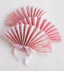paper fans for wedding pink paper wedding crafts