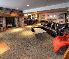 rustic basement with terracotta tile floors u0026 interior brick