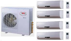 ductless mini split air conditioner ymgi 45000 btu quad zone ductless mini split air conditioner with