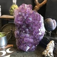large amethyst cluster raw crystal cluster healing crystals and