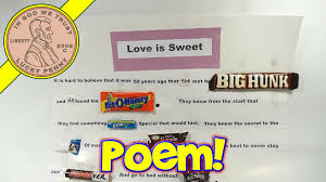 love is sweet poster edible candy poetry with popular brands