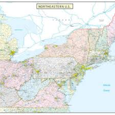 northeastern cus map northeastern united states executive city county wall map