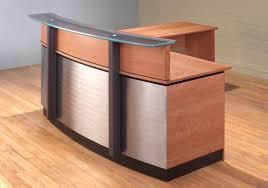 Free Standing Reception Desk Stainless Steel Reception Desk L Shaped For Modern Residence