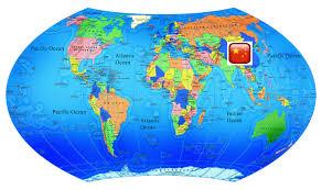 China On Map by Chelyabinsk State University China
