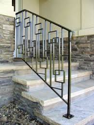 Metal Stair Rails And Banisters Mid Century Modern Front Porch Hand Railing 1000 Images About