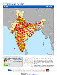 India Maps by Maps Global Rural Urban Mapping Project Grump V1 Sedac