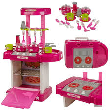 Kitchen Sets For Girls Funky Buys Childrens Pink Electronic Play Kitchen Oven Cooker