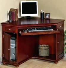 Cherry Wood Corner Computer Desk Cherry Wood Corner Computer Desk S Cherry Finish Wood Corner