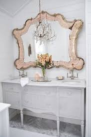 vintage chic mirror shabby cottage french country baroque love