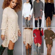 winter jumper dresses for women ebay