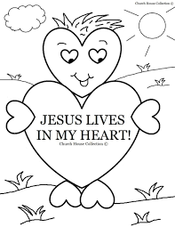 church house collection blog jesus lives in my heart coloring page