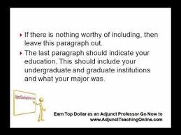 sample letter of interest as an adjunct professor youtube