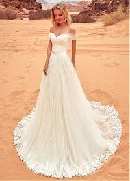 a line wedding dress buy discount fantastic tulle the shoulder neckline a line