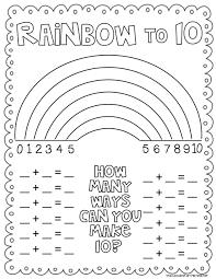 rainbow to 10 freebie a cupcake for the teacher