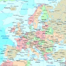 a map of europe with countries map of europe reveals the countries with highest levels great