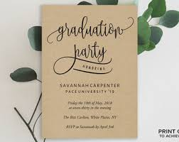 grad party invitations graduation party invitation template etsy