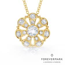 yellow gemstone necklace images Forevermark sun star diamond necklace in 18kt yellow gold 7 8ct tw jpg